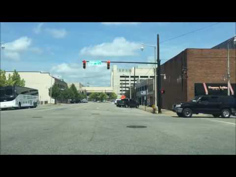 Driving Downtown Montgomery Alabama USA