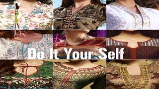 indian suit neck design cutting on pasting paper bukhram