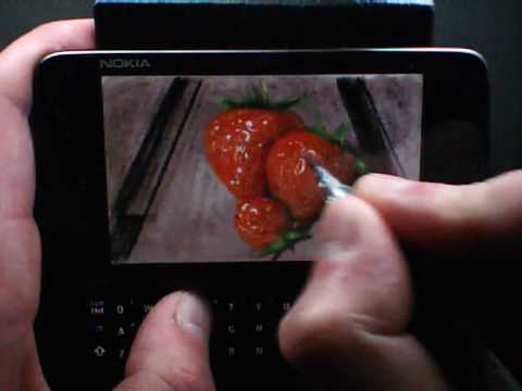 MyPaint for Nokia N900 | Strawberries | Tone