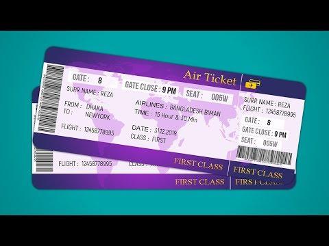 Air Ticket Design | How To Design Plane Ticket | Photoshop Tutorial