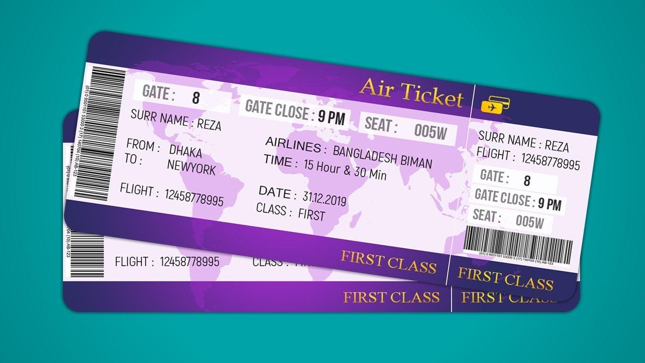Air Ticket Design How To Design Plane Ticket – Ticket Design
