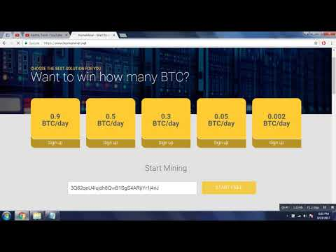 Bitcoin Cloud Mining!!! 0.9 BTC Per Day Without Investment Earn Free Bitcoins