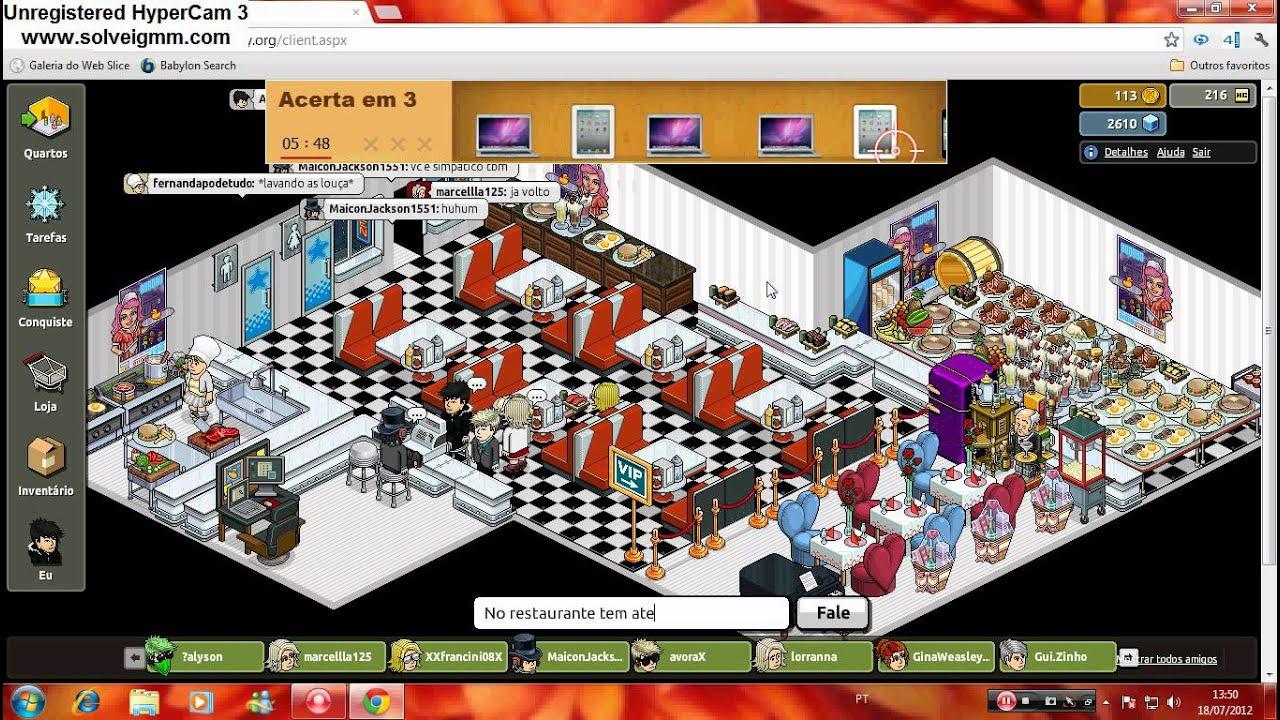 O Restaurante mais famoso do Habbo!  YouTube -> Como Fazer Um Banheiro Moderno Habbo