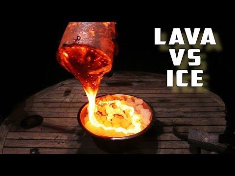 ICE VS BALL OF LAVA!