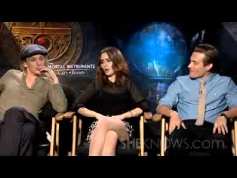 lily collins jamie campbell bower kevin zegers talk the mortal instruments celebrity interview
