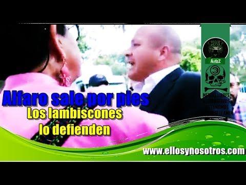 Enrique Alfaro huye de reclamos de ciudadanos y sus lambiscones encaran a la gente