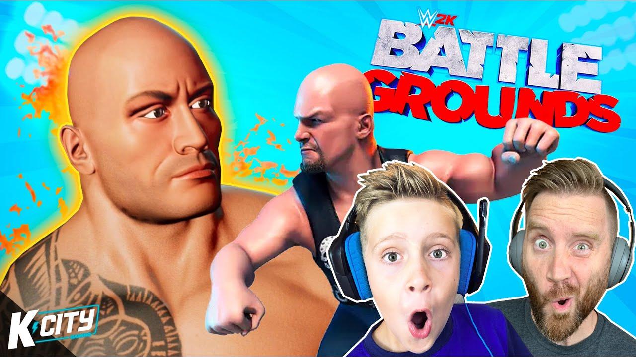 Dad vs Son in WWE 2K Battlegrounds!!! K-CITY GAMING