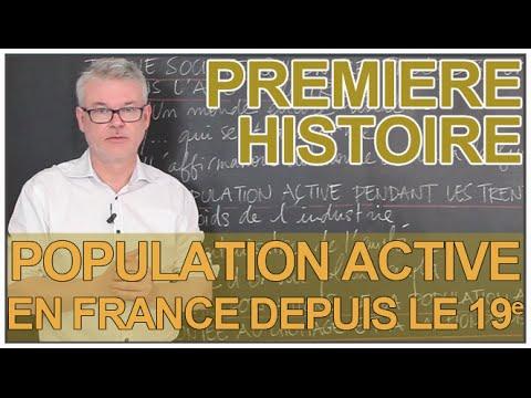 La population active depuis le XIXe siècle - Histoire-Géographie - 1ère - Les Bons Profs
