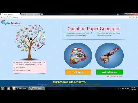 Digital Teacher Question Paper Generator