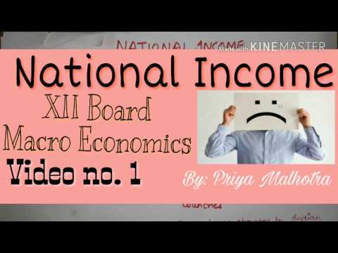 National Income | Macro economics| How to prepare for National Income chapter