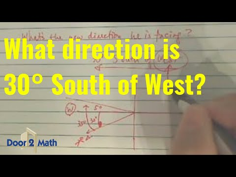 *SAT help - direction with '30 degrees south of west'