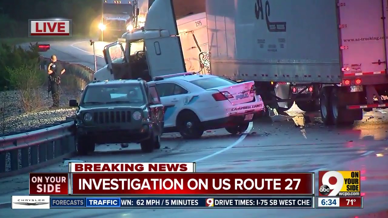 US Route 27 closed in Alexandria after police chase ends in crash involving  police cruiser