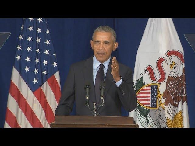 Pres. Barack Obama Rips President Donald Trump\: Full Speech 9/7/2018