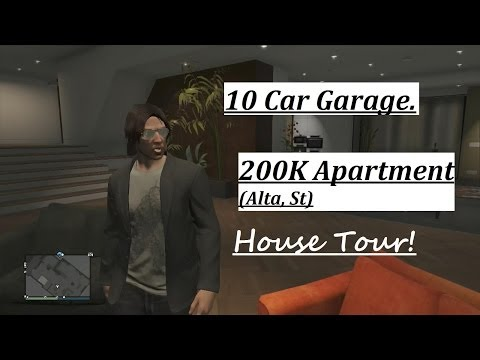 GTA 5 Online - House Tour! (3rd Alta st, Apt:57 - 10 Car garage)