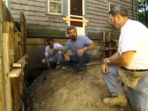 How to Build House Foundation - Colonial Revival Remodel -  Bob Vila eps.1302