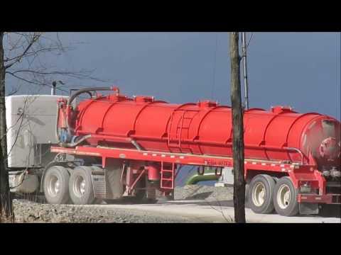 Endless Water Trucks -  Fracking Site -  Cabot -  11-11-16