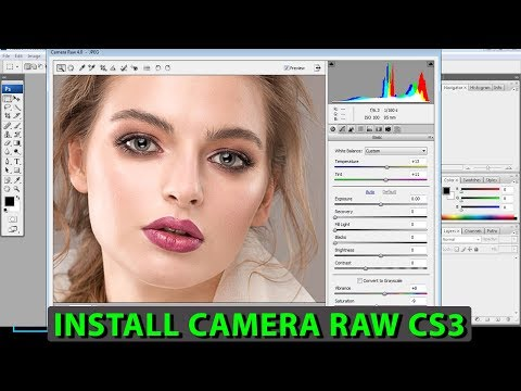 How To Use Camera Raw Adobe Photoshop CS3 In Hindi ArtBalaghat