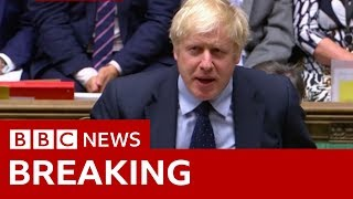 PM Boris Johnson confirms he will table a motion calling for an election - BBC News