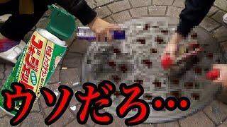 渋谷のマンホールにゴキジェットかけるとゴキブリ大量出現・・・前編 thumbnail