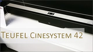 IFA 2016: Teufel Cinesystem 42 - 3.1 Soundbar mit Wireless Subwoofer