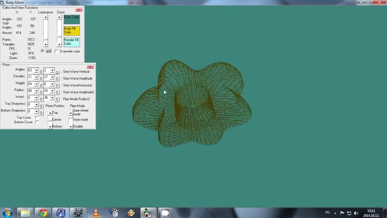 VB6 DirectX8 Mesh Shape Generator With rookie Light Effect - YouTube