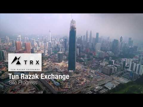 TRX June 2018  Site Progress (Tun Razak Exchange) Financial Hub of KL Malaysia
