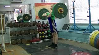 Отегов Степан, 12 лет, св 32 Толчок 33 кг Есть личный рекорд!