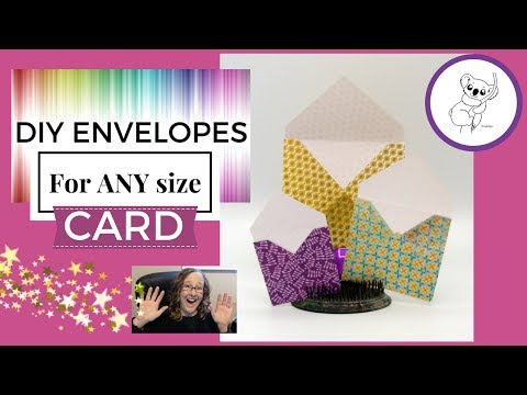 Cute EASY DIY Envelopes for ANY SIZE Cards! No expensive tools needed! TUTORIAL
