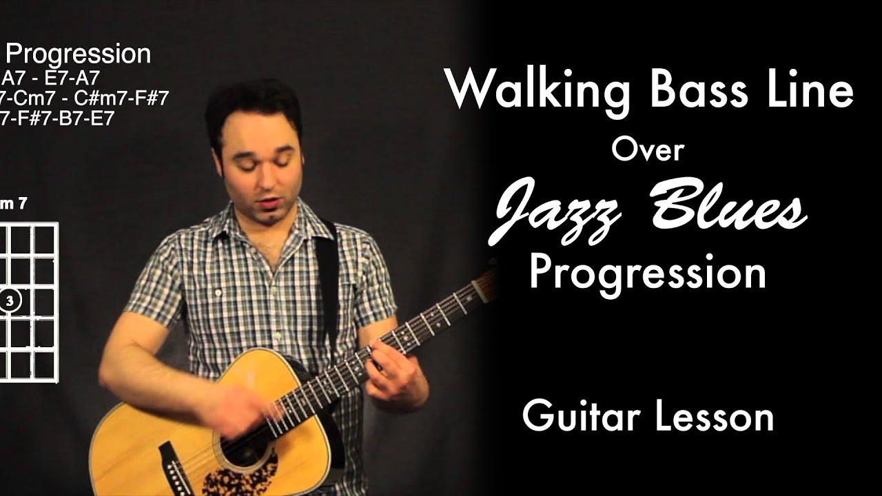 walking bass line over jazz blues progression youtube. Black Bedroom Furniture Sets. Home Design Ideas