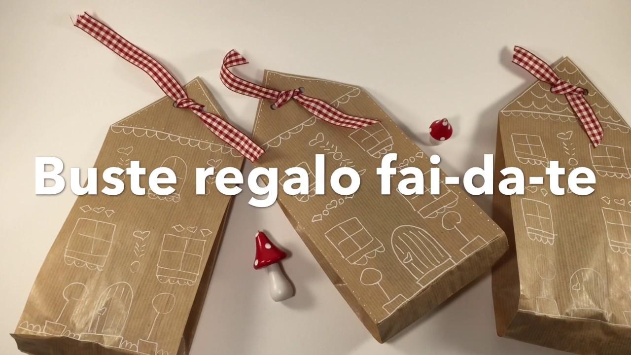 Idee creative Regali di Natale  buste regalo fai da te con sacchetti del pane  YouTube
