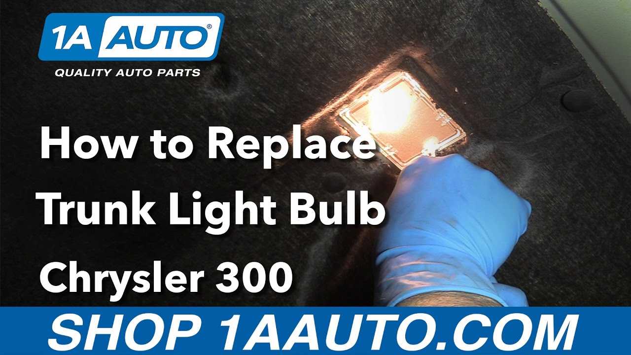 How to Replace Install Trunk Light Bulb 2006 Chrysler 300 ...