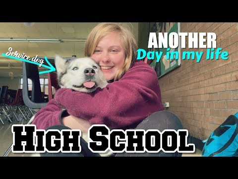 Another Day in my life // High School with a Service Dog