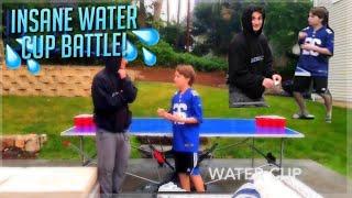 Insane Water Cup Battle!