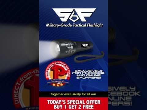 SF6 Military Grade Tactical Flashlight VA