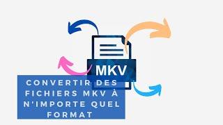Convertisseur MKV - convertir des fichiers MKV à n'importe quel format que vous voulez