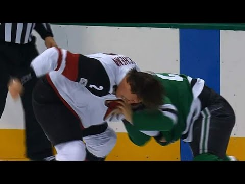 Roussel & Schenn engage in hilarious, punchless fight