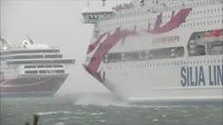Tallink Silja Viking Line In Hard Wind In Mariehamn December 5 2015