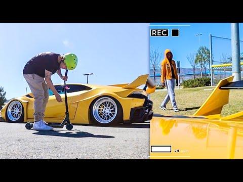 Taking My 1000HP Lamborghini To The Skatepark! - Tanner Fox