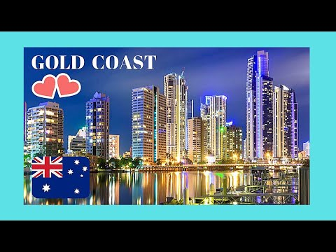 Gold Coast Night Views Of Surfers Paradise Beach Queensland Australia