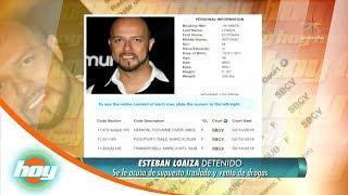 ¡Esteban Loaiza, detenido con 20 kilos de drogas! | Hoy