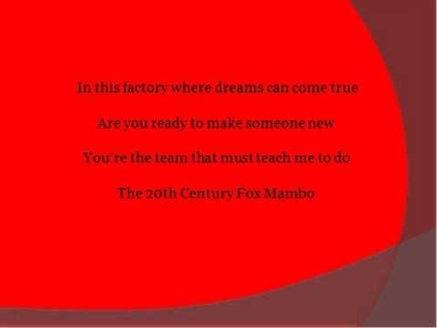 The 20th Century Fox Mambo by Smash w/ lyrics