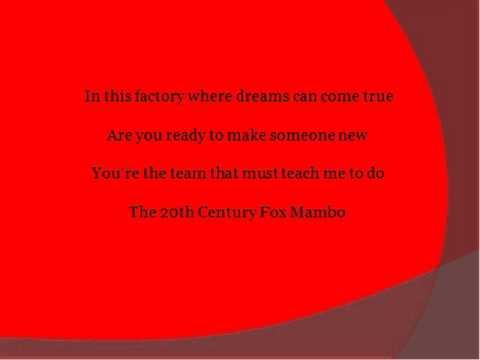 The 20th Century Fox Mambo by Smash w/ lyrics