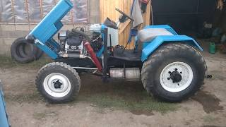Трактор самодельный 4х4  Tractor homemade 4х4