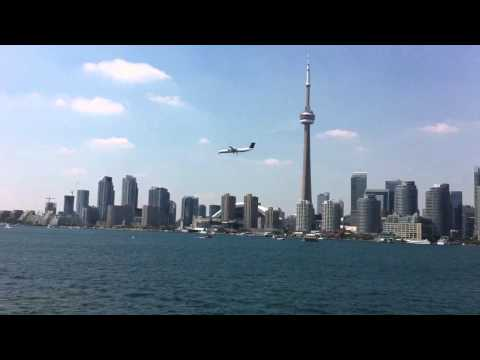 Crossing Toronto harbour aboard the Sam McBride