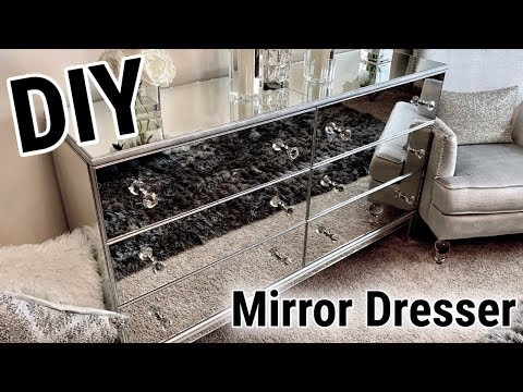 DIY Mirrored Furniture Makeover! | IKEA HACK! | Incredible Before & After