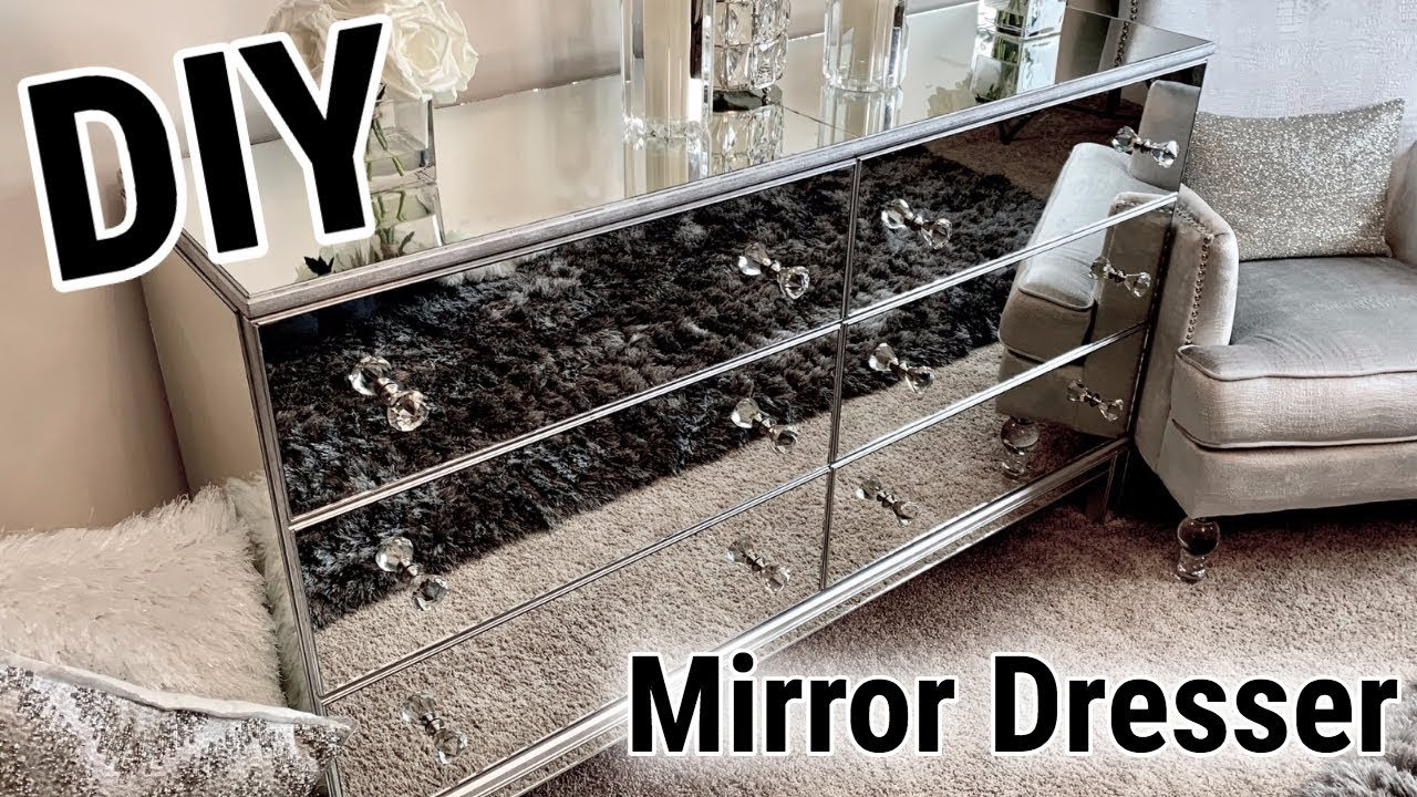 Diy Mirrored Furniture Makeover Ikea Hack Incredible Before