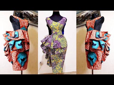 how-to-make-a-flounce-peplum-dress- -pencil-dress- -princess-dart-dress- -fully-lined-dress