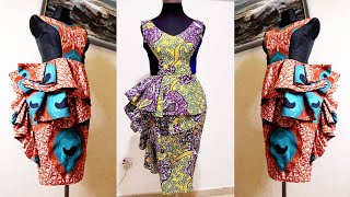 HOW TO MAKE A FLOUNCE PEPLUM DRESS | PENCIL DRESS | PRINCESS DART DRESS | FULLY LINED DRESS