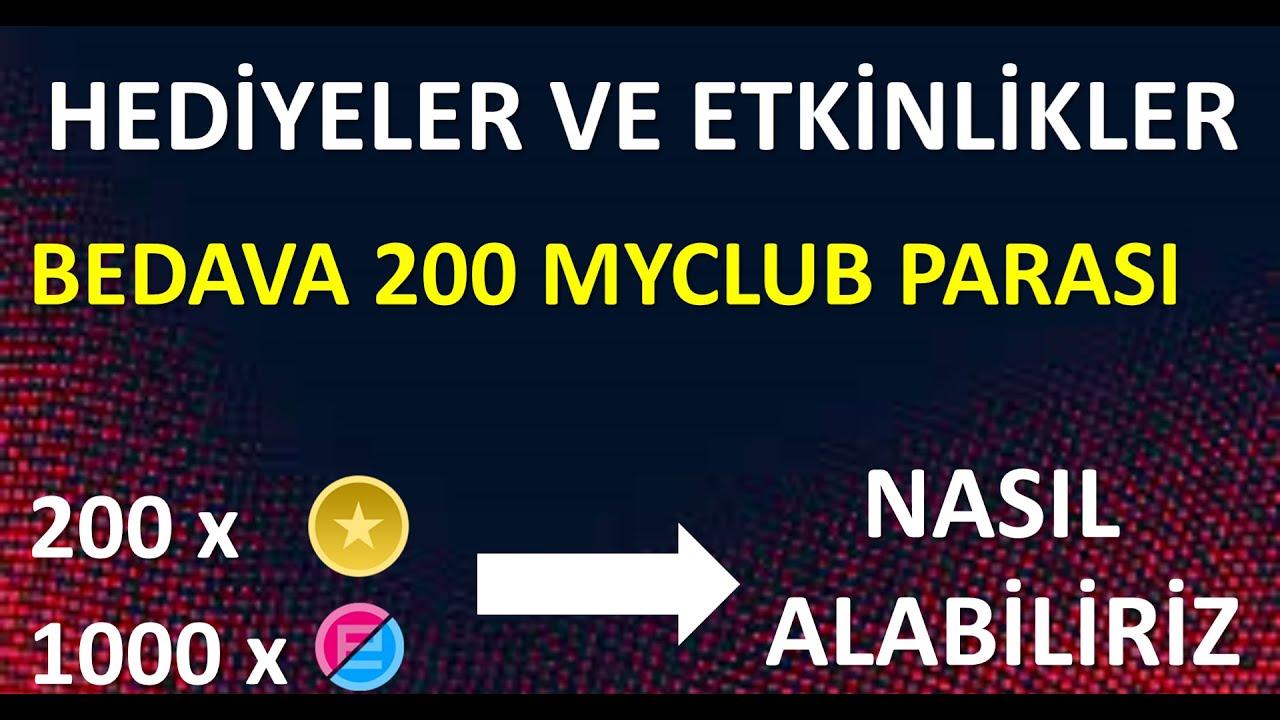 BEDAVA MYCLUB PARALARI ve 1000 EFOOTBALL + 200 MYCLUB PARASI KAZANMA YOLU ( Pes 2021 Mobile )