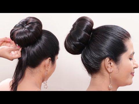 classic-beautiful-bun-hairstyle-!-nice-hair-style-!!-@bun-hairstyles
